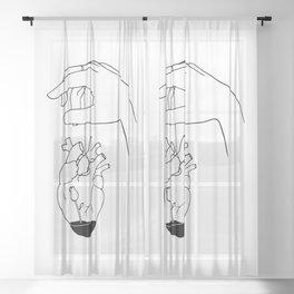 How can you mend a broken heart Sheer Curtain