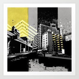 CMYK Triptych - Yellow Art Print