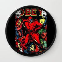 obey Wall Clocks featuring OBEY! by sasha alexandre keen