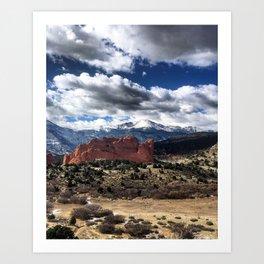 Pikes Peak - Colorado Springs Art Print