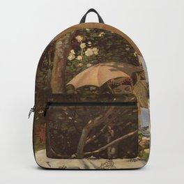 Monet- Women in the Garden, nature,Claude Monet,impressionist,post-impressionism,painting Backpack