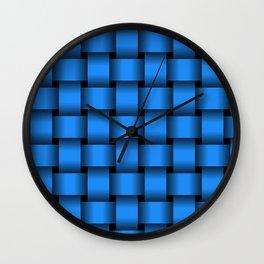 Large Dodger Blue Weave Wall Clock