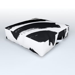 Abstract Monochrome 02 Outdoor Floor Cushion