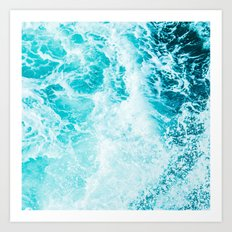 Perfect Sea Waves Art Print