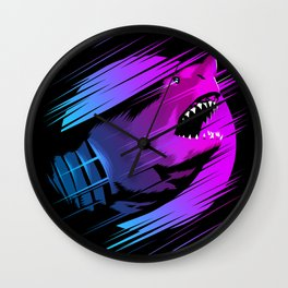 Rising Shark Wall Clock