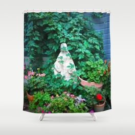 Garden statue 2 Shower Curtain