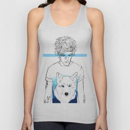 Louis and the wolf Unisex Tank Top