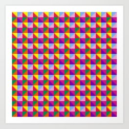 Eight Triangles Pixel Art Print