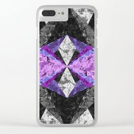 Marble Geometric Background G433 Clear iPhone Case