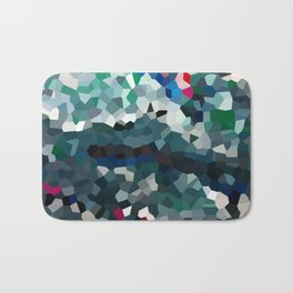 Emerald Sea Green Moon Love Bath Mat
