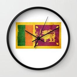 Sri Lanka Flag design | Sri Lankan design Wall Clock