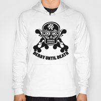 roller derby Hoodies featuring Roller Derby Until Death by Mean Streak