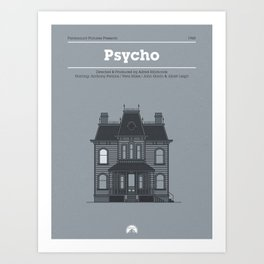 Horror Film Houses 01 Art Print