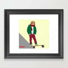 CHUCKY - Modern outfit version Framed Art Print