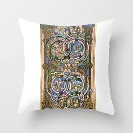 Illuminated manuscript Throw Pillow