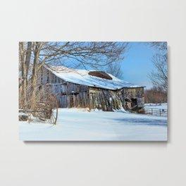 Old barn days Metal Print