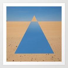 Desert Triangle Art Print