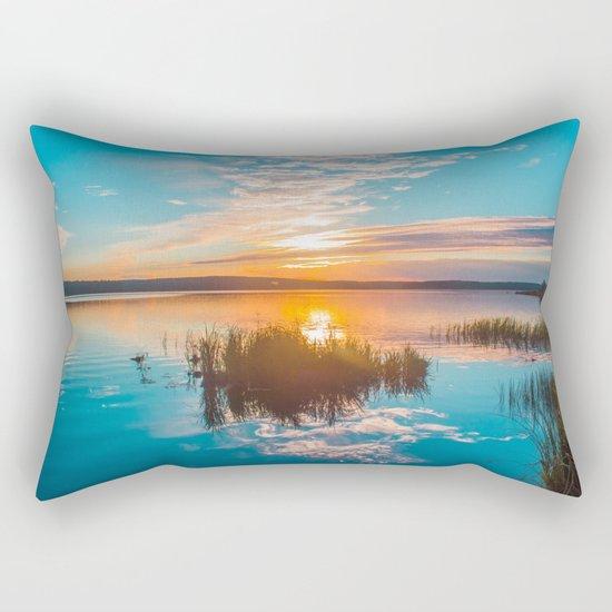 River sunset Rectangular Pillow