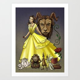 Belle and the Beast Art Print
