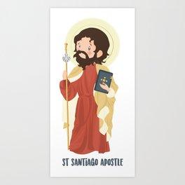 Saint Santiago Apostle Art Print