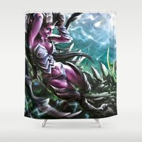 warcraft Shower Curtains featuring Apocalypse by Steuer Catherine
