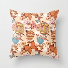 The Great Air Balloon Hunt Throw Pillow