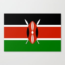 National flag of Kenya - Authentic version, to scale and color Canvas Print
