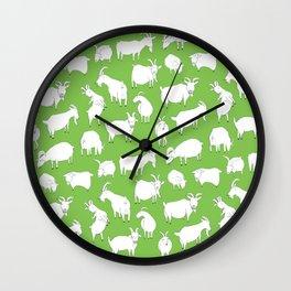 Green Goats Wall Clock