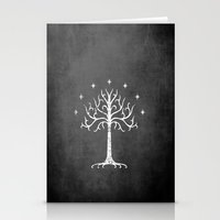gondor Stationery Cards featuring White Tree of Gondor by Nxolab