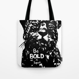 Bold As A Leopard Tote Bag