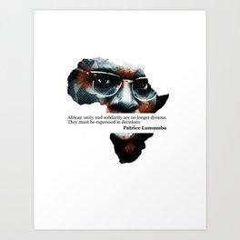African Leader - Patrice Lumumba Art Print