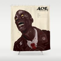 zombies Shower Curtains featuring Nazi Zombies - Target Practice by Duke Dastardly