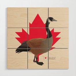 Canada Goose Wood Wall Art