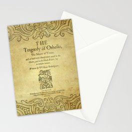 Shakespeare. Othello, 1622. Stationery Cards