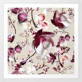 Magnolia cherry blossum Art Print