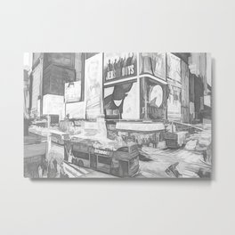 Times Square II (digital sketch) Metal Print