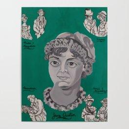 Jane Austen Bust Poster