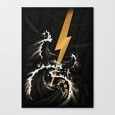 Electric Guitar Storm Canvas Print