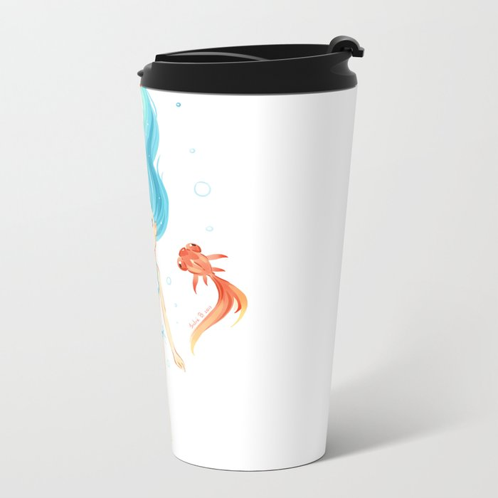 Coral 2 Metal Travel Mug