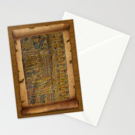 Ancient Egyptian Funerary Scroll pre 944 BC Stationery Cards