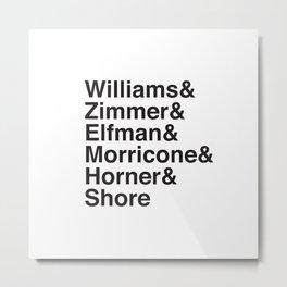 Helvetica Composers Metal Print