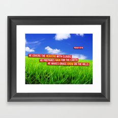 On the Hills Framed Art Print