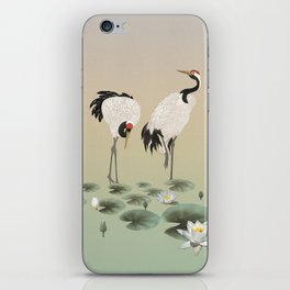 Water Lilies and Cranes iPhone Skin