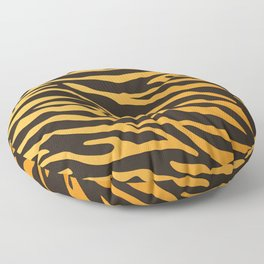 Tiger stripes animal print pattern Floor Pillow
