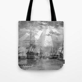 Civil War Ships of the United States Navy Tote Bag