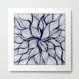 Abstract in Bloom Metal Print