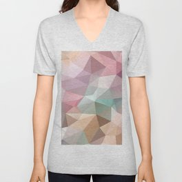 Abstract triangles polygonal pattern Unisex V-Neck