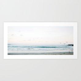 Wide beach horizon Art Print