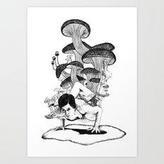 mushroom stance Art Print