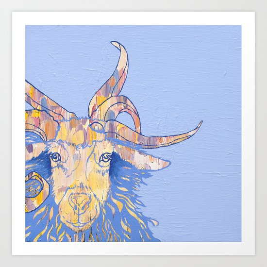 5-horned Goat Art Print